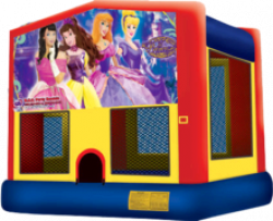 Lil' Princess Theme Deluxe Themed Bounce House Combo