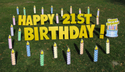 Candles Happy Birthday Yard Greeting