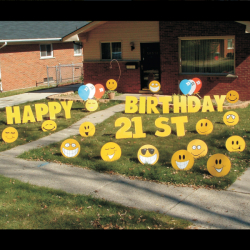 Smiley Faces Yard Greeting