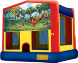 Soccer Theme Deluxe Themed Bounce House Combo