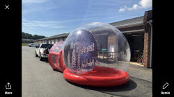 Life Sized Snow Globe-Red-12 foot diameter