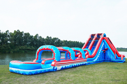 22ft Dual lane Mega Waterslide