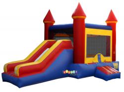 $240 Full Day Rental Bounce Castle Combo Single Slide