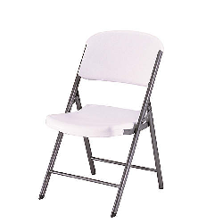 Lifetime folding chair white