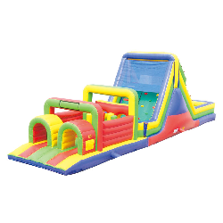55' Junior Obstacle Course with Rockwall and Slide