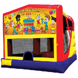 Happy Birthday Themed Bounce House Combo