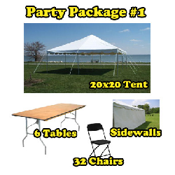 Party Package #1 - 20x20 Tent (32 People)