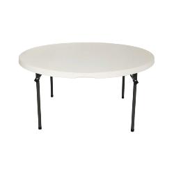 60' round folding table