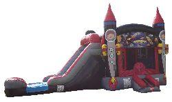 Rocket Water Slide Combo