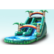 16FT Tropical Water Slide  (29x11x16)