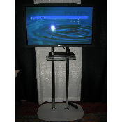 72in Dual Chrome Pole TV Stand