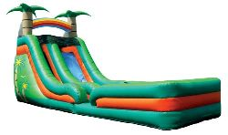 Tropical Water Slide with Landing