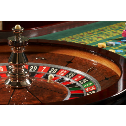 Roulette Table with Wheel