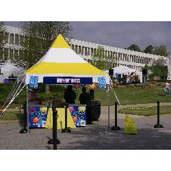 Tent - 10x10 Yellow/White High Peak