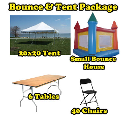 Party Package #6 - Bounce & Pole Tent Package (40 People)