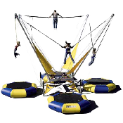 3 Station Bungee Trampoline incl 3 staff