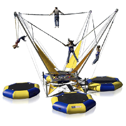 4 Station Bungee Trampoline incl staff