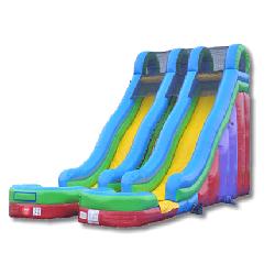 24' Double Lane Dry Slide