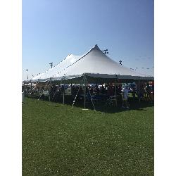 Tent - 40x60 White Pole (set on grass)