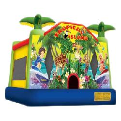 Tropical Island Bounce House