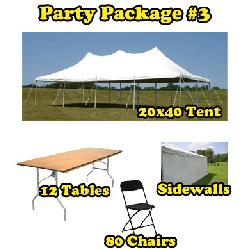 Party Package #3 - 20x40 Tent (80 People)