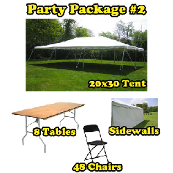 Party Package #2 - 20x30 Tent (48 People)