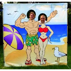 Beach Couple Photo Frame - $50
