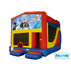 Frozen Themed Bounce House Combo