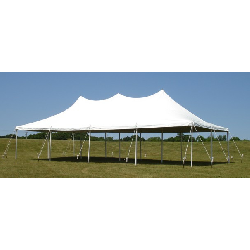 20'x40' White Pole Tent (96 people)