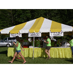 Tent - 20x20 Yellow/White Low Peak