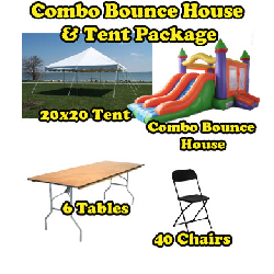 Party Package #5 - Tent & Combo Bounce (40 People)