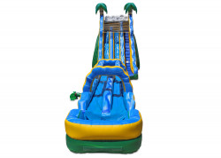 24 Tropical Wave Dual Slide nowm 1 1611433234 24' Tropical Dual Water Slide with Slip and Slide
