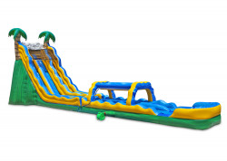 24 Tropical Wave Dual Slide nowm 2 1611433234 24' Tropical Dual Water Slide with Slip and Slide