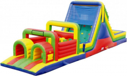 52 FT WATER SLIDE TWO LANE OBSTACLE WATERPARK COMBO