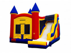 5 in 1 SPACE SAVING MAX FUN 16' WAVE SIDE SLIDE BOUNCE 5 IN