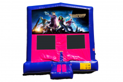GUARDIANS OF THE GALAXY PINK/PURPLE BOUNCE HOUSE