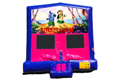 LIL AND STICH PINK/PURPLE BOUNCE HOUSE