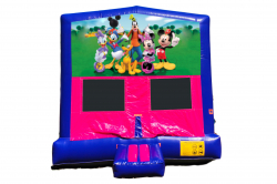 MICKEY MOUSE PINK/PURPLE BOUNCE HOUSE