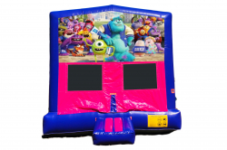 MONSTER UNIVERSITY PINK/PURPLE BOUNCE HOUSE