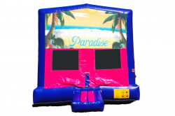 PARADISE BEACH PINK/PURPLE BOUNCE HOUSE