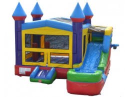 5 IN 1 SPACE SAVING 16' MAX FUN STRAIGHT SIDE SLIDE COMBO
