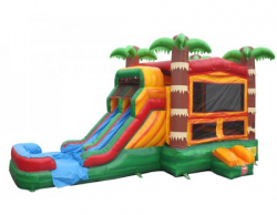 PARADISE DUAL LANE WATER SLIDE & BOUNCE 5 IN 1 COMBO