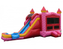 PINK SUPERSLIDE Wet OR Dry 5 IN 1 BOUNCE COMBO