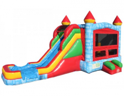 BLUE SUPERSLIDE Wet OR Dry 5 IN 1 BOUNCE COMBO