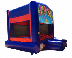 Congratulations Red/Blue/Yellow Bounce House