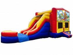 Dinosaurs RBY Double Lane Wet Or Dry Combo