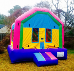 Pink/Purple/Blue & Yellow Bounce House