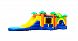 40' PARADISE PLAYGROUND BOUNCE Wet OR Dry 5 IN 1 COMBO