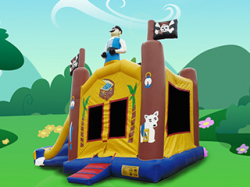4 IN 1 PIRATE Wet OR Dry BOUNCE COMBO All Day Rental