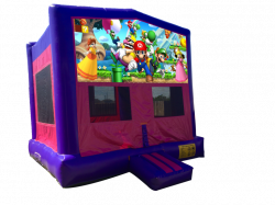 Super Mario Pink/Purple Bounce House